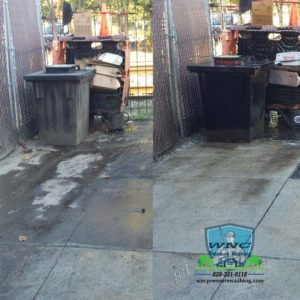 Commercial Pressure Washing Dumpster Pad